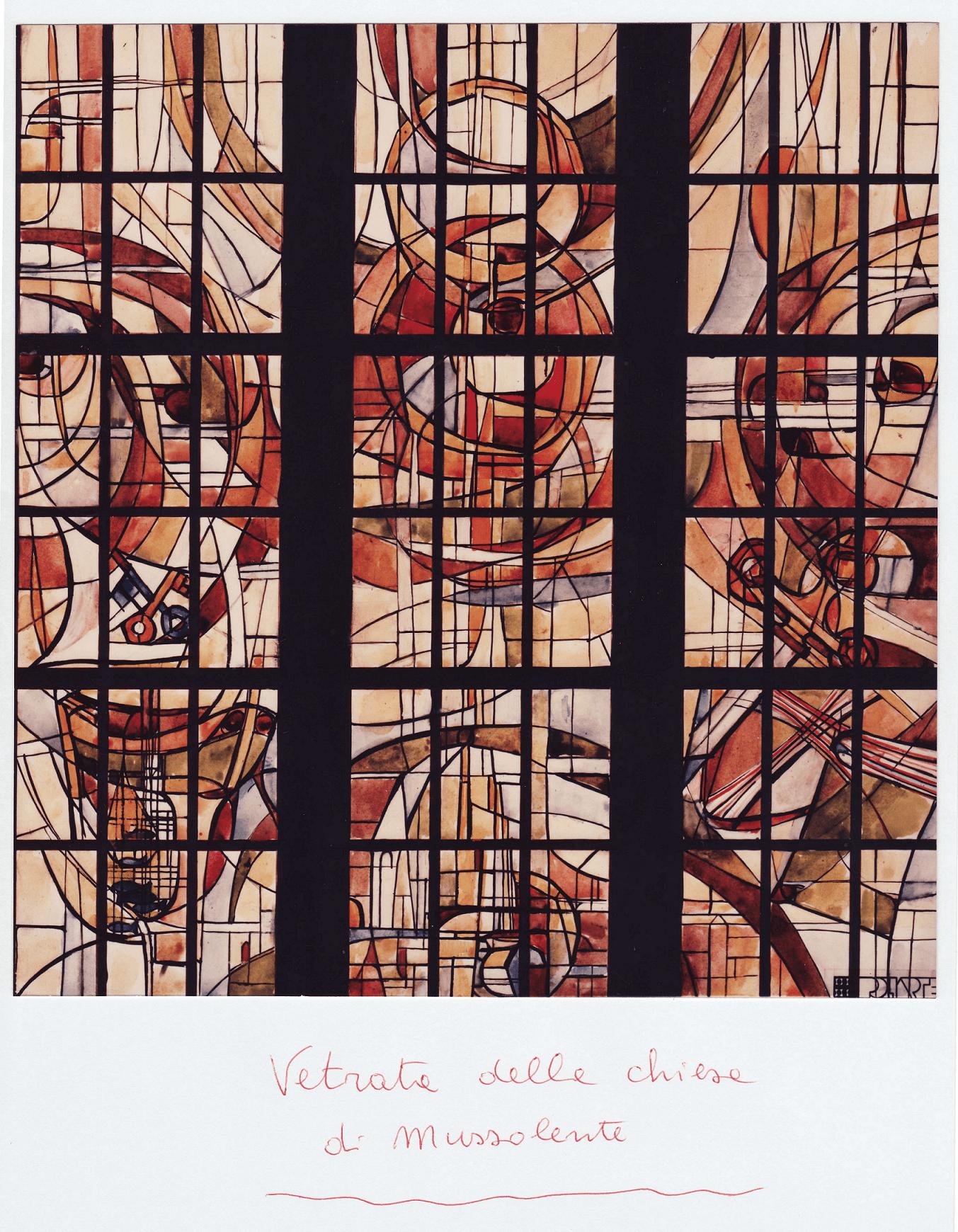 parrocchiale - vetrata parete ovest