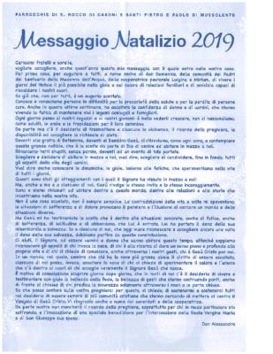 Messaggio Natalizio 2019