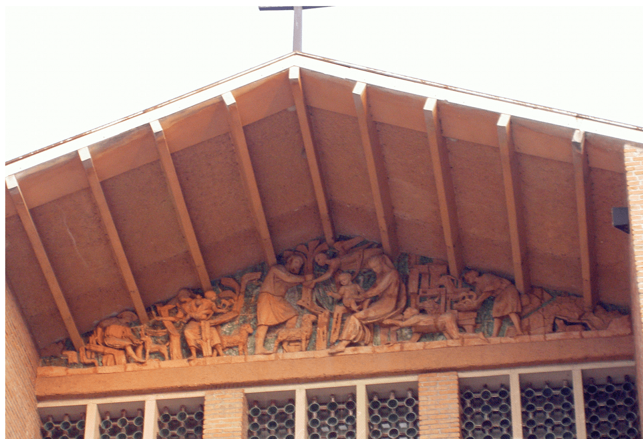 parrocchiale presepe sul timpano