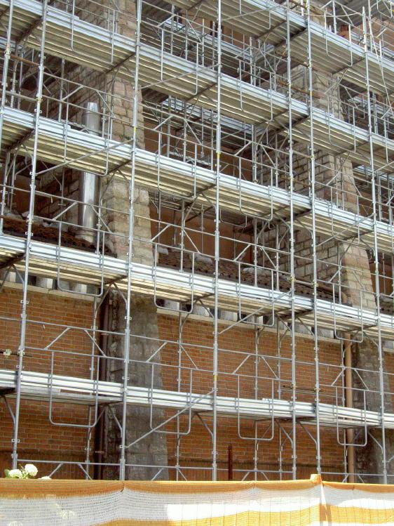 ristrutturazione 2007 ponteggi parete esterna